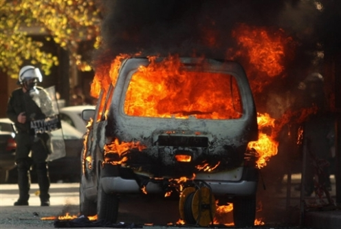 GREECE-PROTEST-CLASHES