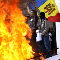 MOLDOVA ELECTION RIOTS