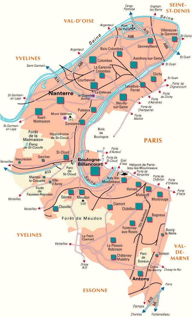 Google Map Ville De Saint Cloud