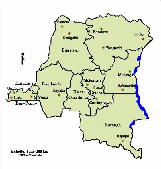 Carte De La Ville De Kinshasa