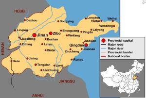 Shandong carte