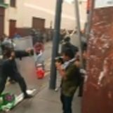 Peruvian students clash with police in Lima